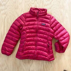 Patagonia Down Sweater Puffer Jacket Full Zip Pink